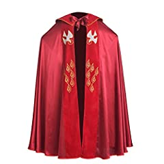 Material: Satin Blend Handmade Garment,Hansd Washable Flat Collar IHS, Bird Embroidery Size: One size (Fits for one with the height of 163-175cm.) Great choice for Priest Worship Robe