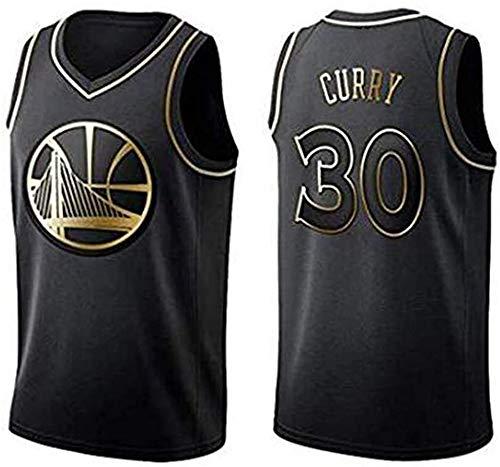 WHYYT Jerseys de Baloncesto de los Hombres, NBA Golden State Warriors # 30 Stephen Curry Jersey, Chaleco sin Mangas con Bordado clásico,L(175~180CM/75~85KG)