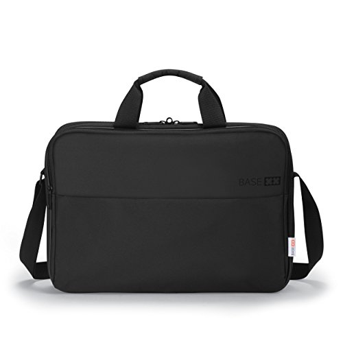 Dicota BASE XX T 14-15.6 Inch Laptop Computer and Tablet Shoulder Bag, Lightweight Top Loading Laptop Case, Black