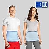 ®BeFit24 Nierenwärmer für Herren und Damen - Rückenwärmer - Wärmegürtel - Nierenschutz - Nierengurt Wärme [ Size 3 - Himmelblau ]