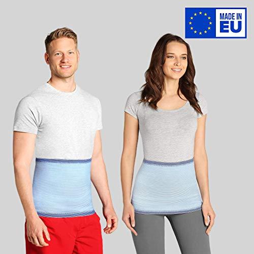 ®BeFit24 Nierenwärmer für Herren und Damen - Rückenwärmer - Wärmegürtel - Nierenschutz - Nierengurt Wärme [ Size 5 - Himmelblau ]
