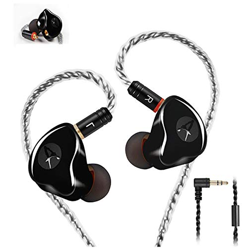 In Ear Monitors,Wired Earbuds Earphone Dual Drivers Headphone with MMCX...