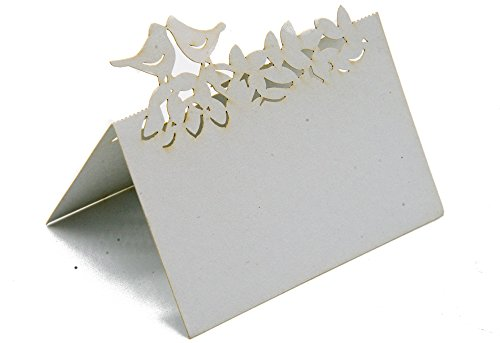 50 stks Laser Cut Liefde Vogels Bruiloft Partij Tafel Naam Plaats Kaarten Favor Decor