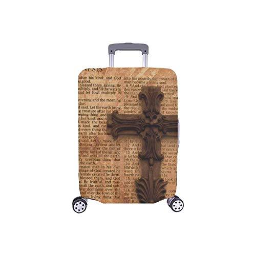 Vintage Grunge Bible Verse Page y Cross Travellers Choice Travel Equipaje con Ruedas giratorias Maleta de Equipaje de 24 Pulgadas