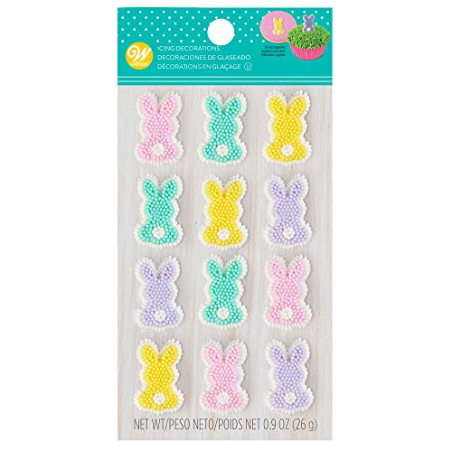 Pastel Bunny Icing Decorations