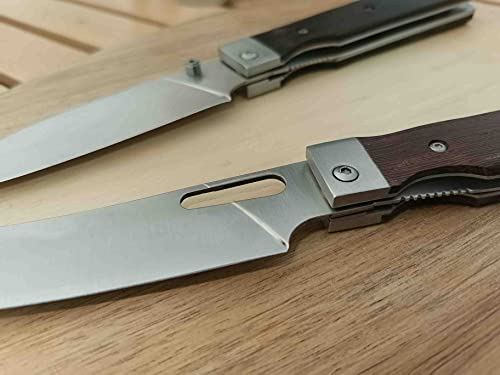 """Folding Camping Chef Knife 4.8"""" Sharp 440A Stainless Steel Blade Japanese Style Pocket Folding Kitchen Knife Outdoor Cooking Knife"""