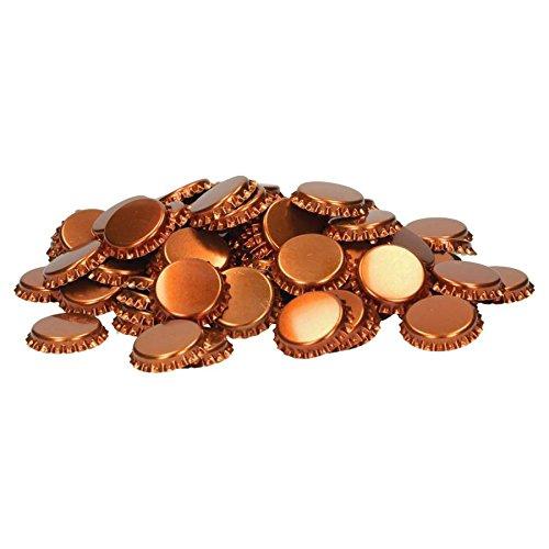 Brauen.de Kronenkorken zum Verschließen von handelsüblichen Mehrwegflaschen 100 Stück Bronze Kronkorken Bierkapsel