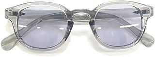 サングラス 伊達メガネ ボストン 丸メガネ ウェリントン ボスリントン ライトカラーレンズ カラーレンズサングラス 薄い色 色付き メンズ レディース UVカット
