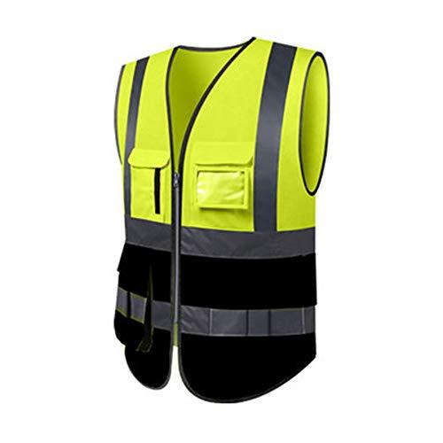 Reflecterende veiligheidskleding – reflecterende jas, fluorescerend vest voor het werk, kleding, fluorescerend kostuum, geel, rijvest, reflecterende kleding.