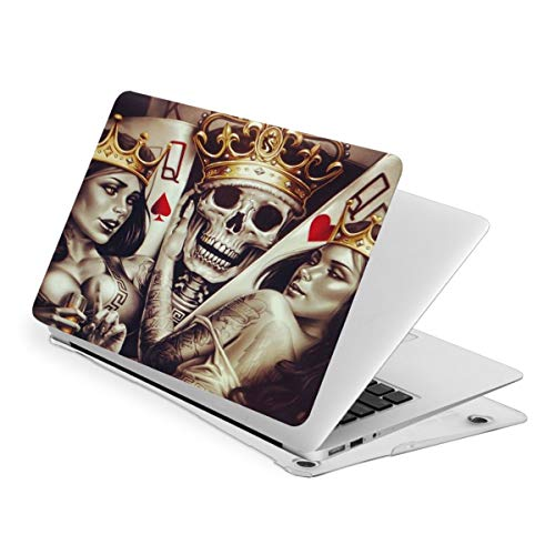 Laptop Case for MacBook Gold King Skull Crown Poker Laptop Computer Hard Shell Cases Cover (New Air13 / Air13 / Pro13 / Pro15)