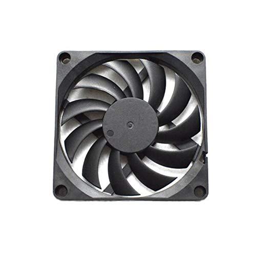 Radiador del ventilador Gran volumen de aire 3000RPM 80mm DC 5V 2 pines Silencio ordenador PC caja de plástico del ventilador de refrigeración del radiador