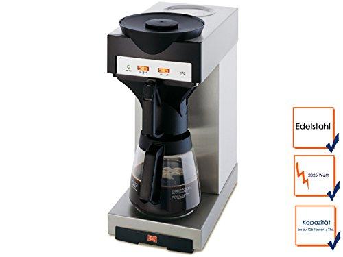 Profi Melitta Filter-Kaffeemaschine mit Glaskanne, bis zu 125 Tassen / Stunde; M170M GGG