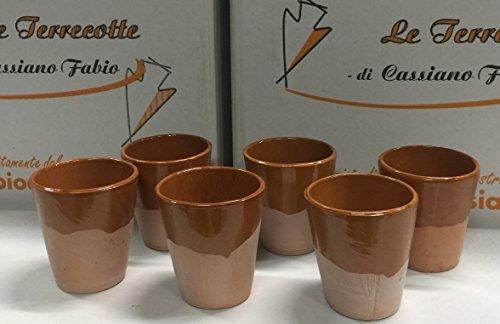 le terrecotte di cassiano fabio Bicchieri in Terracotta SEMILUCIDI CM 10
