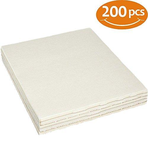 Premium Tear Away Machine Embroidery Stabilizer Backing 200 Precut Sheets 8'x8' Medium Weight 1.8...