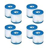 WuYan Filtro de repuesto para bañera de hidromasaje Intex, 28601/28602 para filtro de bomba Intex tipo H 29007E Set cartucho de filtro para piscinas sobre el suelo Hot Tub Spa,8 unidades
