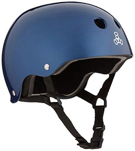 Best Prices! Triple 8 Standard Liner Skateboarding Helmet, Large, Blue Metallic