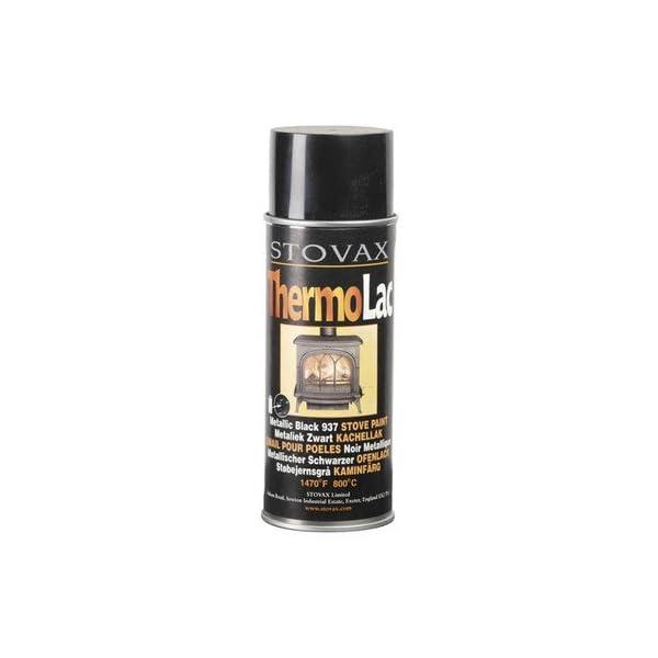 STOVAX THERMOLAC PAINT MATT BLACK FOR STOVE FIRE GRATE BBQ FLUE RADIATORS