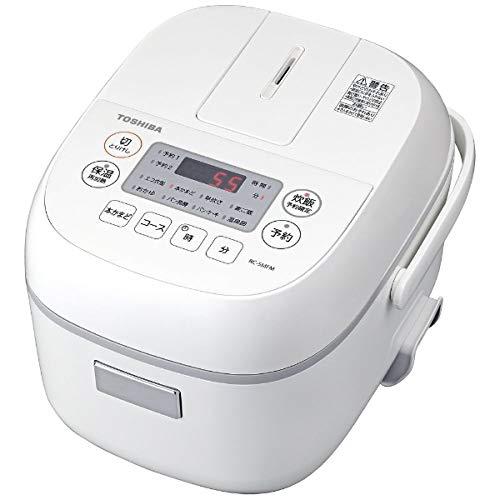 東芝 マイコンジャー炊飯器(3合炊き) ホワイトTOSHIBA RC-5MFM-W