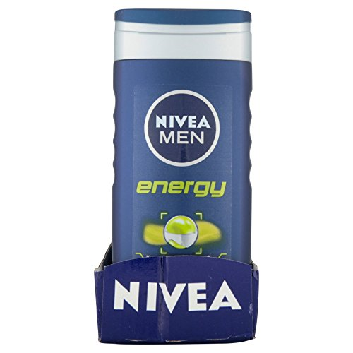 6 x NIVEA FOR MEN Energy Shower Gel 250ml by Nivea for Men