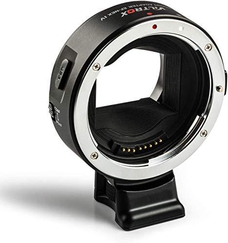 VILTROX EF-NEX IV - Adattatore per messa fuoco automatica, per adattare obbiettivi Canon EOS EF EF-S alle fotocamere Sony con attacco E Sony NEX/A7III/A9/A7RIII/A7RII/A7II/A7S/A7R/A7/A7m2/A7m3