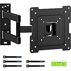 """Universal Compatibility: This heavy duty full-motion wall mount fits most 13"""" to 42"""" TVs or monitors up to 35 kg with VESA mounting holes spacing of 200x200mm, 200x100mm,100x100mm, and 75x75mm. Not compatible with 100x200mm. Tilt & Swivel Function: T..."""