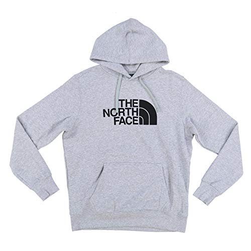 The North Face Mens Half Dome Graphic Pullover Hoodie (Medium, Grey Heather/Black)