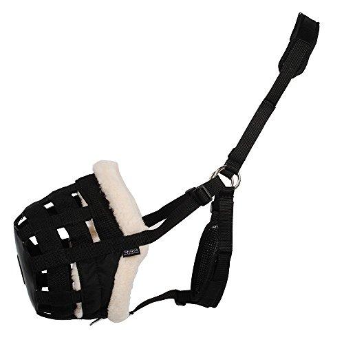 Shires Deluxe Comfort Grazing Muzzle Pony Black