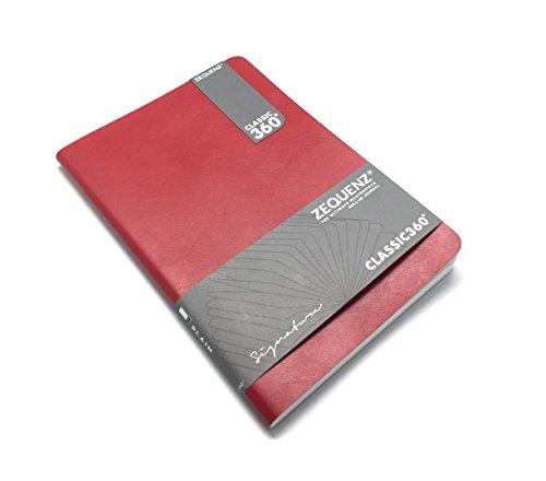 Zequenz Classic Notizbuch, 360 Seiten, weich gebunden, Rot, Lite, groß, 19 x 24 cm, 100 Blatt/200 Seiten, blanko