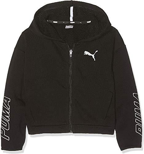 PUMA PUMA Mädchen Alpha Hooded Sweat Jacket G Sweatjacke, Cotton Black, 116