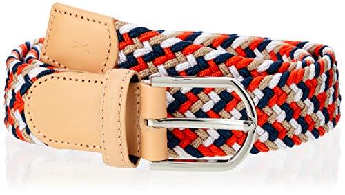 BRAX Style Elastischer Flechtgürtel Cintura, arancione rosso, (dimensioni produttore:100) Donna