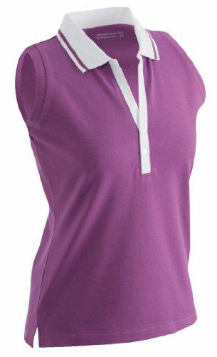 James & Nicholson Polo con il massimo comfort Violett - Purple/white 46