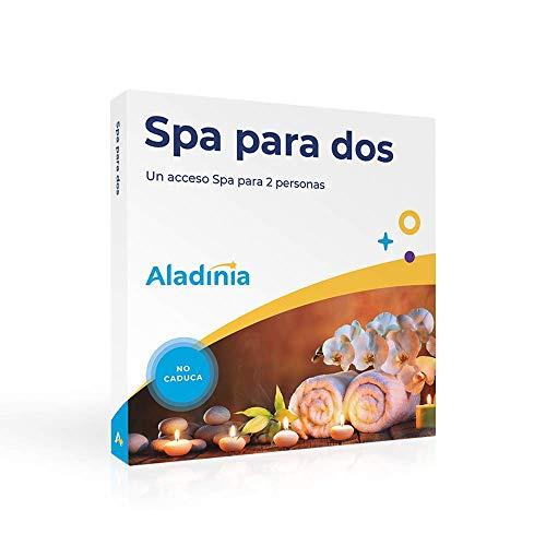 ALADINIA Box Caja Regalo Pack SPA para Dos con Validez Ilimitada | Más de 60 Opciones para Elegir en España