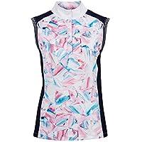 Dublin - Camisa sin Mangas de competición Katie Estampada para Chica Mujer (XXL) (Azul/Rosa/Blanco)