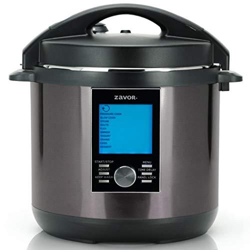 Zavor LUX LCD 8 Quart Programmable Electric Multi-Cooker: Pressure Cooker, Slow Cooker, Rice Cooker, Yogurt Maker, Steamer and more - Black (ZSELL23)
