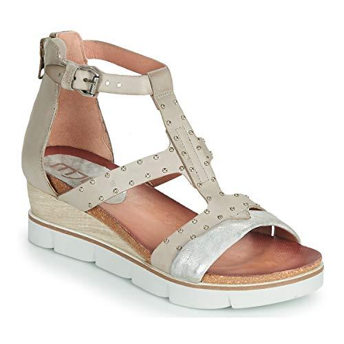 Mjus Tapasita Sandalen/Sandaletten Damen Grau/Mettalfarben - 38 - Sandalen/Sandaletten Shoes