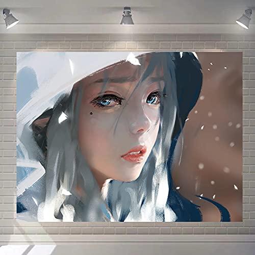 DSman Tela Colgante de Anime Tela de Fondo de Pintura Colgante