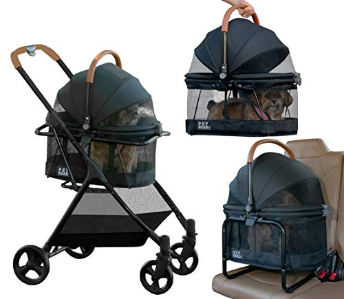 Pet Gear View 360 Pet Stroller Travel System 3-in-1 Carrier, Booster Seat and Stroller with Push...