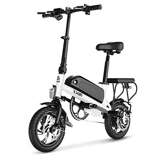 ZXCK Faltbarer Elektrischer Fahrrad-Roller, Mit 12