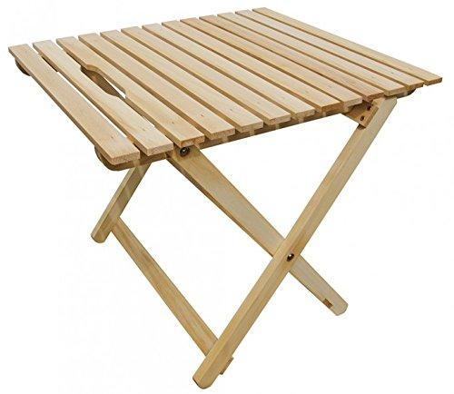 Erst-Holz Tisch Buche hell klappbar Beistelltisch, Gartentisch 10-350 N
