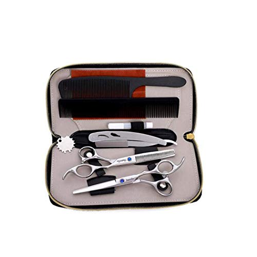 YLLN Hair Scissors Set - Professional Hairdressing Salon Thinning Scissors - Barber Hair Trimming Scissors - Professional Hairdressing Scissors 6 inch, Set
