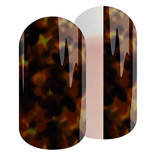TORTOISE SHELL - Jamberry Lacquer Strips - Quick & Easy Nail Decal Design