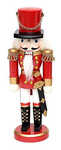 Dekohelden24 Wunderschöner Nussknacker Soldat, in rot, klassisch, ca. 35 cm