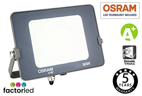 LED-koplamp FactorLED 30W SMD Advance met OSRAM chip voor buiten, 3000lm hoge efficiëntie, buitenverlichting IP65-3000K 4000K 6000K (warmwit) [energie-efficiëntieklasse A ]