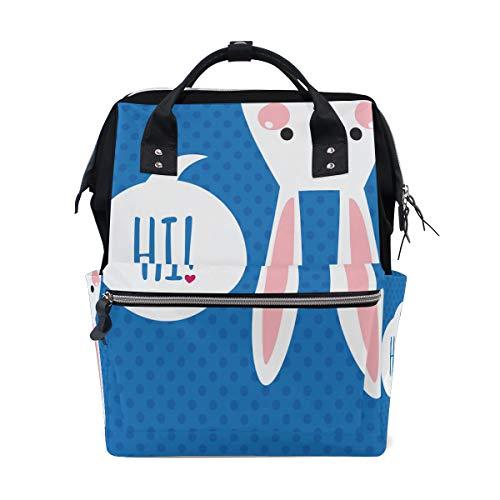 Kawaii Super Cute Cartoon Kaninchen Tier Große Kapazität Windel Taschen Mummy Rucksack Multi Funktionen Wickeltasche Tasche Tote Handtasche Für Kinder Babypflege Reise Täglichen Frauen