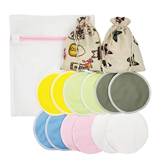 Zoylink Set De Almohadillas De Lactancia Almohadilla De Lactancia Lavable Reutilizable A...