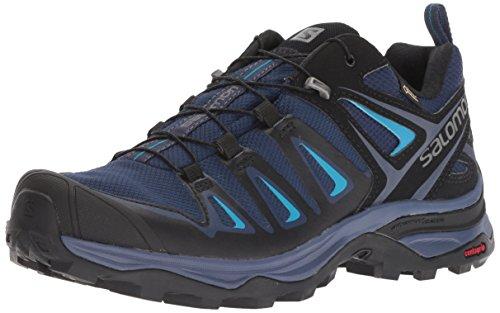Salomon Shoes X Ultra 3 GTX W Medieval B/BK/Haw, Zapatillas de Deporte para Mujer, Azul Negro, 38 EU