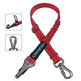 Iokheira cinturón de Seguridad para Perros, cinturón de Seguridad para Mascotas y Accesorio de Barra de Cierre con mosquetón Giratorio con Cerradura (rojo1)