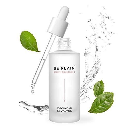 BE PLAIN BHA Peeling Ampoule 1.67 fl oz. - BHA Salicylic Acid Mild Exfoliant Serum for Face - Pore Reduction, Oil Control, and Acne Spot Treatment