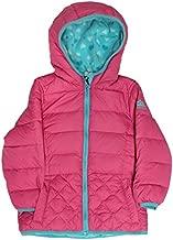 Snozu Girls Fleece Lined Down Jacket (4T, Fuchsia)