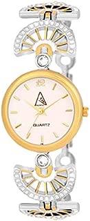 PADMAJA Stylining Diva Platinum Color Plated Bracelet Style Women Watch - White Dial | Golden Color Watch for Women|Jewellery Watches for Women - Silver| Quartz White dial Watch for Women